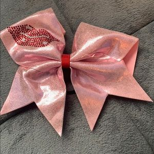 Pink cheerleading bow